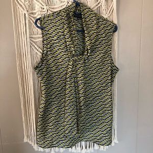 Black label Evan picone tie front tank blouse xl